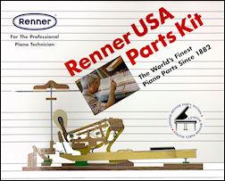 Renner USA piano action parts kit.